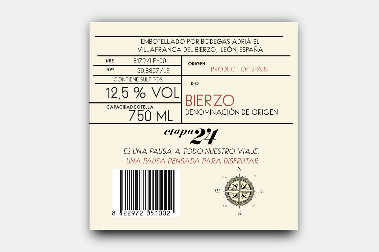 Etiqueta para Bodegas Adria por cdaestudio