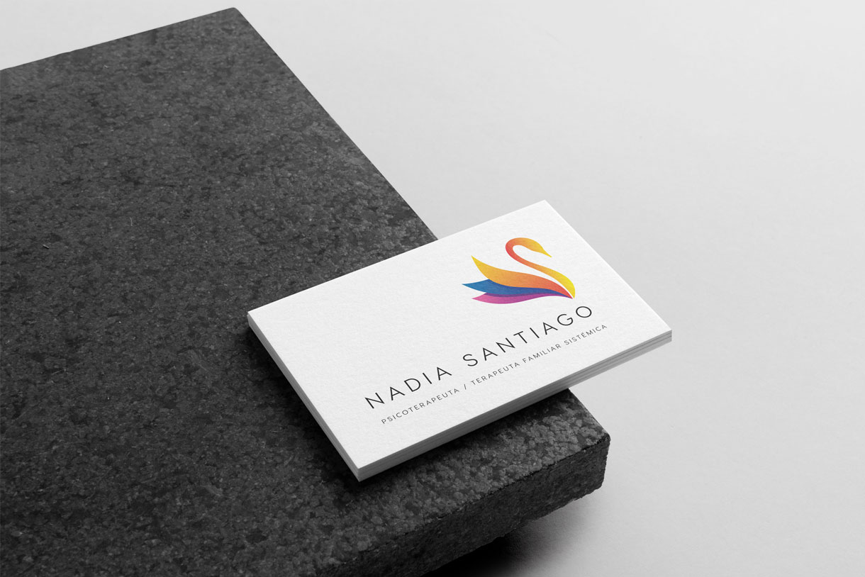 Tarjeta Nadia Santiago por cdaestudio