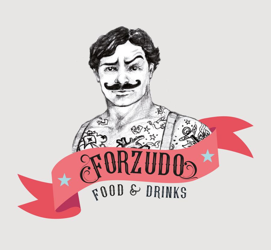 Logotipo para Vermouth Forzudo, realizado por cdaestudio