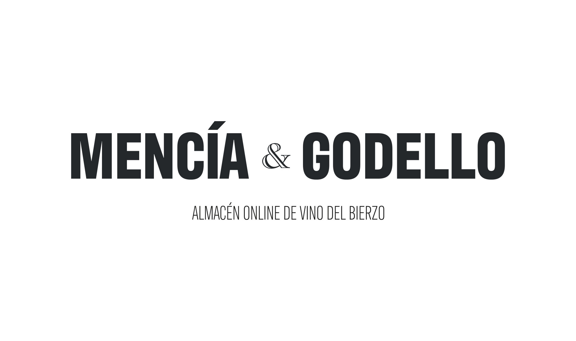 Logotipo Mencía&Godello, almacén de vino del Bierzo, por cdaestudio